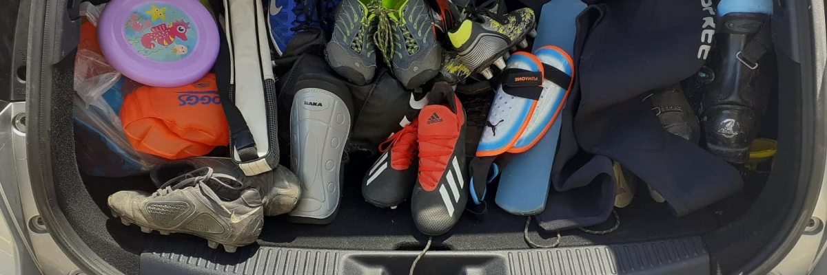 Donated sporting goods