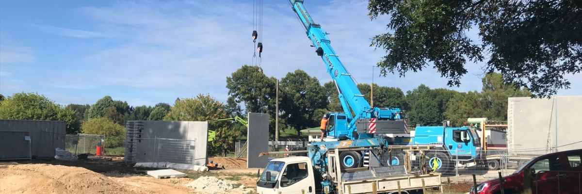 New Putaruru substation building being constructed